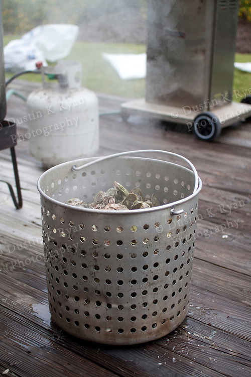 Oyster Roast Steamed Oysters Shuckers gloves south carolina