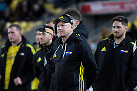 Hurricanes team manager Tony Ward watches the Super Rugby quarterfinal match between the Hurricanes and Chiefs at Westpac Stadium in Wellington, New Zealand on Friday, 20 July 2018. Photo: Dave Lintott / lintottphoto.co.nz