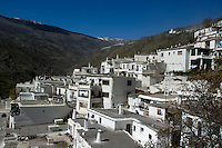 View of Pampaneira village in the Alpujarras Mountains, Andalusia, Spain.