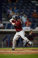 Mahoning Valley Scrappers third baseman Connor Smith (22) at bat during a game against the Williamsport Crosscutters on August 28, 2018 at BB&T Ballpark in Williamsport, Pennsylvania.  Williamsport defeated Mahoning Valley 8-0.  (Mike Janes/Four Seam Images)