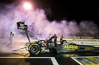 May 30, 2014; Englishtown, NJ, USA; NHRA top fuel driver Khalid Albalooshi during qualifying for the Summernationals at Raceway Park. Mandatory Credit: Mark J. Rebilas-