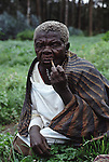 An impunyu forest pygmy woman now forced to live outside  her  traditional home within Gishwati forest - Western Rwanda