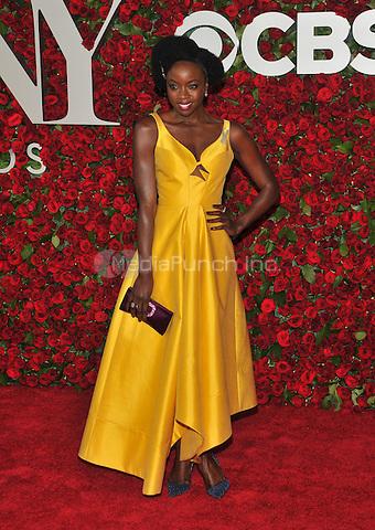 NEW YORK, NY - JUNE 12: Danai Gurira at the 70th Annual Tony Awards at The Beacon Theatre on June 12, 2016 in New York City. Credit: John Palmer/MediaPunch