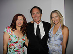 Anne Sayre poses with Christopher Goutman (Search for Tomorrow, Edge of Night and producer and director AMC, GL, ATWT, A/W) and wife Marcia McCabe (Search for Tomorrow, OLTL, A/W, ATWT) attend the 70th Annual Theatre World Awards on June 2, 2014 at Circle on the Square, New York City, New York (Photo by Sue Coflin/Max Photos)