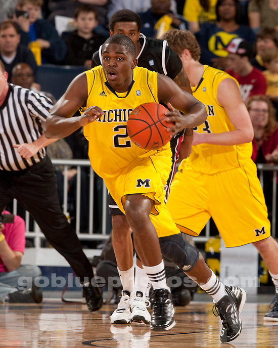 University of Michigan men's basketball team beat Bradley 77-66 at Crisler Arena in Ann Arbor, Mich., on December 22, 2011.