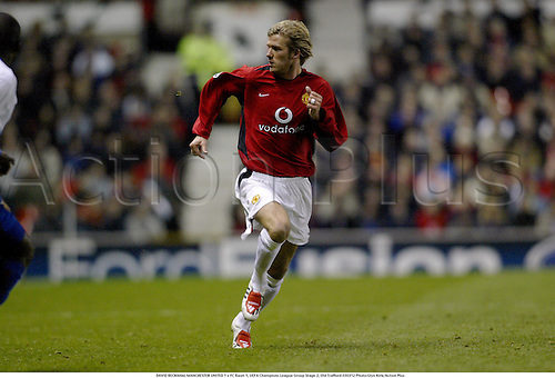 DAVID BECKHAM, MANCHESTER UNITED 1 v FC Basel 1, UEFA Champions League Group Stage 2, Old Trafford 030312 Photo:Glyn Kirk/Action Plus...2003.Soccer Football utd