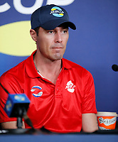 2nd January 2020; RAC Arena , Perth, Western Australia, Australia; ATP Cup Team Press conferences, Spain; Marat Safin Captain of Russia speaks to the press  at the team press conferences - Editorial Use