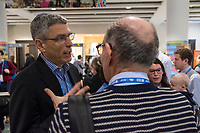 Rabbi Rick Jacobs speaks with people attending the Union for Reform Judaism Biennial 2017 in the Hynes Convention Center in Boston, Mass., USA, on Wed., Dec. 6, 2017. Rabbi Jacobs is the president of the Union for Reform Judaism.