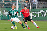26.10.2019, Stadion Lohmühle, Luebeck, GER, Regionalliga Nord VFB Lübeck/Luebeck vs Hannover 96 II <br /> <br /> <br /> DFB REGULATIONS PROHIBIT ANY USE OF PHOTOGRAPHS AS IMAGE SEQUENCES AND/OR QUASI-VIDEO.<br /> <br /> im Bild / picture shows<br /> Marcel Schelle (VfB Luebeck) im Zweikampf gegen Nikita Marusenko (Hannover 96 II).<br /> <br /> Foto © nordphoto / Tauchnitz