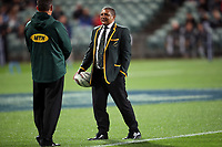 Springboks head coach Allister Coetzee before the Rugby Championship match between the New Zealand All Blacks and South Africa Springboks at QBE Stadium in Albany, Auckland, New Zealand on Saturday, 16 September 2017. Photo: Shane Wenzlick / lintottphoto.co.nz