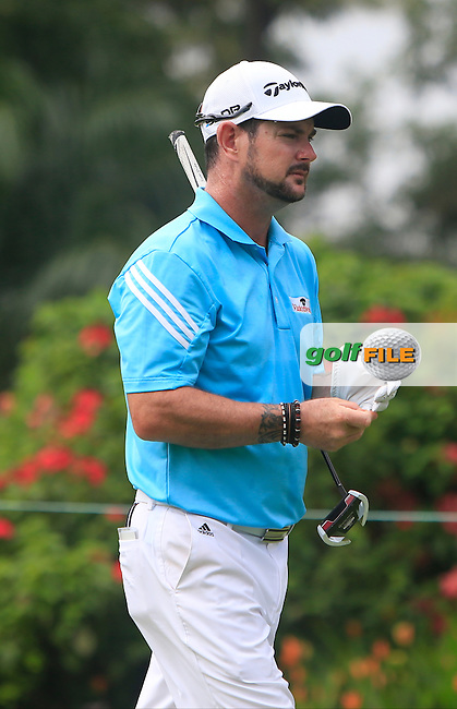 Rory Sabbatini (RSA) on the 4th tee during Round 3 of the CIMB Classic in the Kuala Lumpur Golf &amp; Country Club on Saturday 1st November 2014.<br /> Picture:  Thos Caffrey / www.golffile.ie