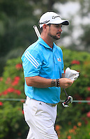 Rory Sabbatini (RSA) on the 4th tee during Round 3 of the CIMB Classic in the Kuala Lumpur Golf & Country Club on Saturday 1st November 2014.<br /> Picture:  Thos Caffrey / www.golffile.ie
