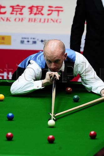 Apr 01, 2011; Beijing, CHINA; Judd Trump defeats Peter Ebdon 5:1 in a quarterfinal match at the Bank of Beijing 2011 World Snooker China Open.