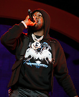 LOS ANGELES, CALIFORNIA - JUNE 21: Meek Mill performs onstage at the 2019 BET Experience STAPLES Center Concert at Staples Center on June 21, 2019 in Los Angeles, California. Photo: CraSH for imageSPACE /MediaPunch