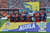 MEDELLÍN - COLOMBIA .22-08-2019:Formación Independiente Medellín.Acción de juego entre los equipos Independiente Medellín y Águilas Doradas durante partido por la fecha 7 de la Liga Águila II 2019 jugado en el estadio Atanasio Girardot de la ciudad de Medellín. /Team of Independiente Medellin.Action game between  Independiente Medellin  and Aguilas Doradas during the match for the date 7 of the Liga Aguila II 2019 played at the Atanasio Girardot  Stadium in Medellin  city. Photo: VizzorImage /León Monsalve / Contribuidor.