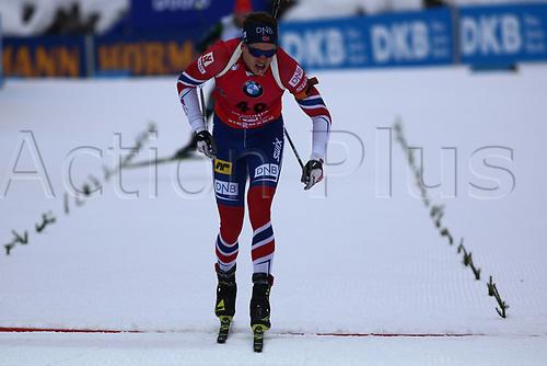 8th December 2017, Biathlon Centre, Hochfilzen, Austria; IBU Biathlon World Cup; Tarjei Boe (NOR) at the finish