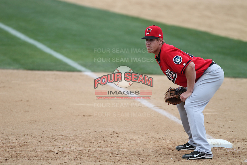 Dennis Raben #21 of the High Desert Mavericks during game against the Rancho Cucamonga Quakes at The Epicenter in Rancho Cucamonga,California on May 8, 2011. Photo by Larry Goren/Four Seam Images