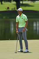 HaoTong Li (CHN) reacts to barely missing his putt on 9 during round 4 of the WGC FedEx St. Jude Invitational, TPC Southwind, Memphis, Tennessee, USA. 7/28/2019.<br /> Picture Ken Murray / Golffile.ie<br /> <br /> All photo usage must carry mandatory copyright credit (© Golffile | Ken Murray)
