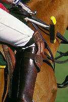 .Polo player close up on equipment..