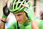 Green Jersey Marcel Kittel (GER) Quick-Step Floors at sign on before the start of Stage 13 of the 104th edition of the Tour de France 2017, running 101km from Saint-Girons to Foix, France. 14th July 2017.<br /> Picture: ASO/Pauline Ballet | Cyclefile<br /> <br /> <br /> All photos usage must carry mandatory copyright credit (&copy; Cyclefile | ASO/Pauline Ballet)