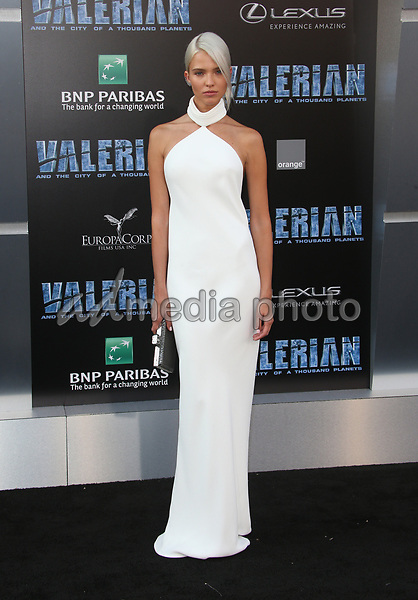 """17 July 2017 - Hollywood, California - Sasha Luss. """"Valerian and the City of a Thousand Planets"""" World Premiere held at TCL Chinese Theatre. Photo Credit: AdMedia. Photo Credit: F. SadouAdMedia"""