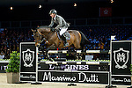 Ludger Beerbaum on Chaman competes during competition Table A Against the Clock at the Longines Masters of Hong Kong on 19 February 2016 at the Asia World Expo in Hong Kong, China. Photo by Li Man Yuen / Power Sport Images