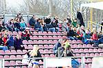 BUERGERPARK-NORD, DARMSTADT - 13. APRIL: 1. Spieltag in der American Football Regionalliga Mitte zwischen den Darmstadt Diamonds (weiss) und den Badener Greifs (rot) im Buergerpark-Nord am 13. April 2013, in Darmstadt, Deutschland. Endstand 21-14. (Photo by Dirk Markgraf)