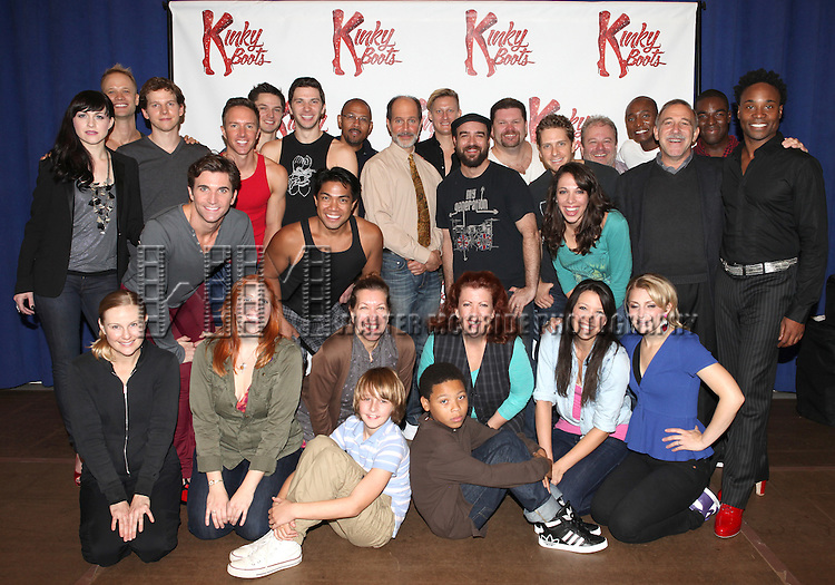 Celina Carvajal,Stark Sandss, Billy Porter & Annaleigh Ashford with the Company of 'Kinky Boots'  attending the Meet & Greet the Cast & Creative Team of the New Broadway Musical 'Kinky Boots' at the New 42nd Street Studios in New York City on September 14, 2012.