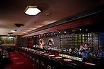 Tokyo, June 28 2013 - The bar of the Imperial Hotel designed by Frank Lloyd Wright.
