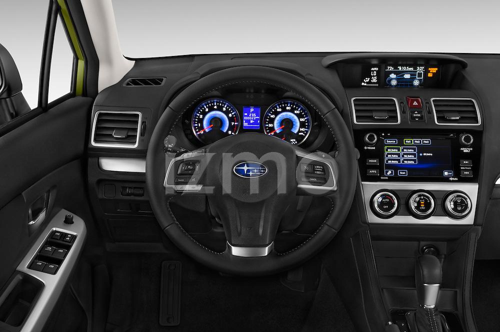 Car pictures of steering wheel view of a 2015 Subaru XV Crosstrek Hybrid 5 Door SUV Steering Wheel