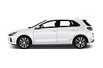 Car driver side profile view of a 2018 Hyundai Elantra GT GT Auto 5 Door Hatchback