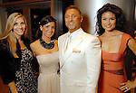 From left: Gina Bhatia, Rachel and Dr. Michael Brown and Suzanne Getty at the Una Notte in Italia party at the Intercontinental Houston Hotel Saturday Nov. 07,2009. (Dave Rossman/For the Chronicle)