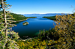 California: Emerald Bay at Lake Tahoe..Photo copyright Lee Foster, 510/549-2202, lee@fostertravel.com, www.fostertravel.com..Phooto #: caitin104