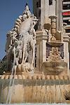 Fountain in the Plaza de la Luceros Square, Alicante, Spain
