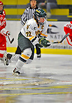 9 February 2008: University of Vermont Catamounts' forward and team co-captain Karen Sentoff, a Senior from Liverpool, NY, in action against the Boston University Terriers at Gutterson Fieldhouse in Burlington, Vermont. The Terriers shut out the Catamounts 2-0 in the Hockey East matchup...Mandatory Photo Credit: Ed Wolfstein Photo