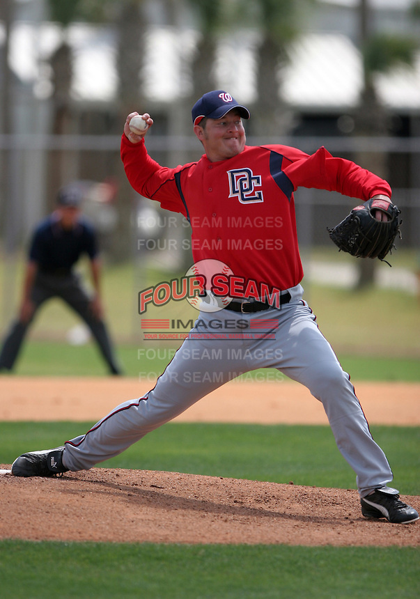 Washington Nationals minor leaguer Thomas Nall during Spring Training at the Carl Barger Training Complex on March 19, 2007 in Melbourne, Florida.  (Mike Janes/Four Seam Images)