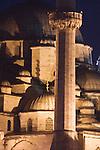 Istanbul, Turkey, Yeni Camii, Mosque, at night, Stamboul,