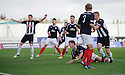 Pars' Ryan Thomson (right) scores Dunfermline's second  ...