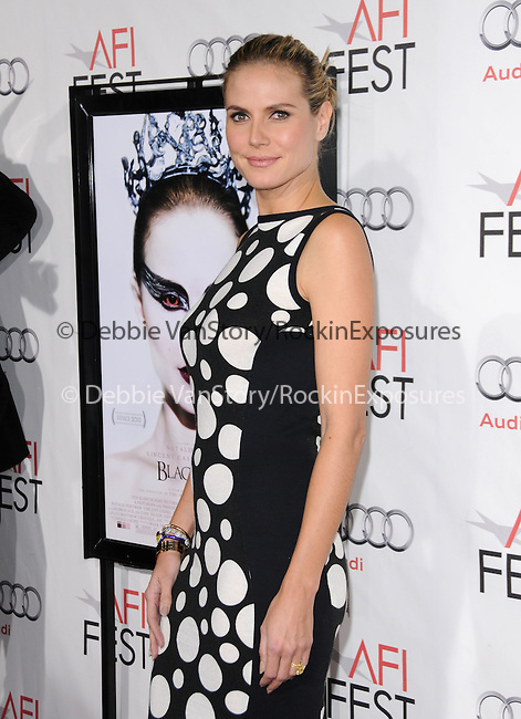Heidi Klum attends the AFI Fest 2010 Closing Night Gala - Black Swan Premiere held at The Grauman's Chinese Theatre in Hollywood, California on November 11,2010                                                                               © 2010 Hollywood Press Agency