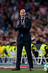 Manager Zinedine Zidane of Real Madrid reacts during the La Liga 2017-18 match between Real Madrid and SD Eibar at Estadio Santiago Bernabeu on 22 October 2017 in Madrid, Spain. Photo by Diego Gonzalez / Power Sport Images