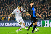 Brandon Mechele defender of Club Brugge battles for the ball with Mauro Icardi forward of PSG  <br /> Bruges 22-10-2019 <br /> Club Brugge - Paris Saint Germain PSG <br /> Champions League 2019/2020<br /> Foto Panoramic / Insidefoto <br /> Italy Only