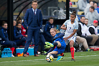 Columbus, Ohio - Thursday March 01, 2018: France, England during a 2018 SheBelieves Cup match between the women's national teams of the England (ENG) and France (FRA) at MAPFRE Stadium.
