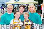 June Bowell, Claudia clifford, Sinead O'sullivan, Ross Bowell and Sarah Spain enjoying the Flavour of Killorglin festival on Saturday