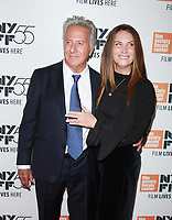 NEW YORK, NY October 01, 2017 Dustin Hoffman, Lisa Hoffman attend 55th New York Film Festival premiere of The Meyerowitz Stories at Alice Tully Hall Lincoln Center in New York October 01,  2017.<br /> CAP/MPI/RW<br /> &copy;RW/MPI/Capital Pictures