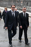 Politician Artur Mas arrives to the state funeral for former Spanish prime minister Adolfo Suarez at the Almudena Cathedral in Madrid, Spain. March 31, 2014. (ALTERPHOTOS/Victor Blanco)