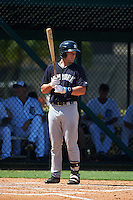 GCL Yankees 1 outfielder Trey Amburgey (66) at bat during the first game of a doubleheader against the GCL Tigers on August 5, 2015 at Tigertown in Lakeland, Florida.  GCL Tigers derated the GCL Yankees 5-2.  (Mike Janes/Four Seam Images)