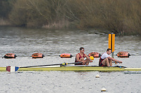 Caversham. Berkshire. UK<br /> Men's pair, BRobbie MASSEY and Richard HUME, competing at the 2016 GBRowing U23 Trials at the GBRowing Training base near Reading, Berkshire.<br /> <br /> Monday  11/04/2016 <br /> <br /> [Mandatory Credit; Peter SPURRIER/Intersport-images]
