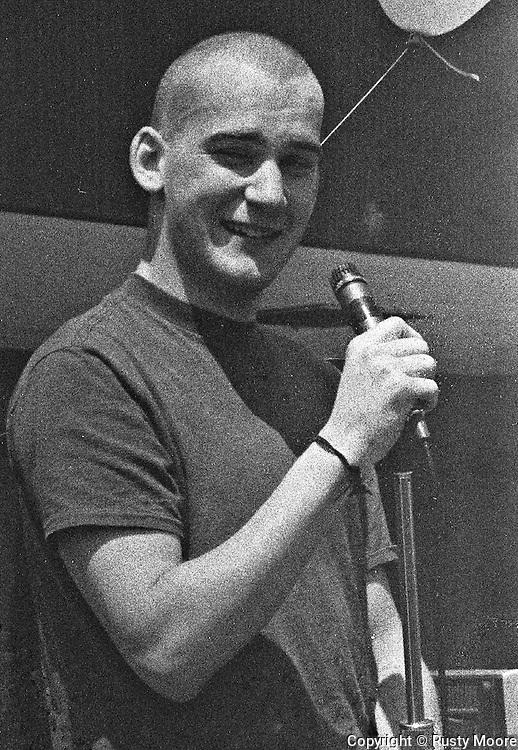Ian MacKaye of Minor Threat at Patrick Henry Elementary School Fair, Arlington VA, May 15,1982.