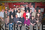 RETIRED: A great night in the Abbey Tavern, Ardfert, on Friday night as Jeremiah Wallace retired from KCC after 36years and his fellow workmates held a party for him and his family.(Jeremiah is seated (centre).............