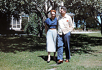An undated photograph of Oscar Hammerstein (right) with his wife Dorothy by Bruce Rutherford/Courtesy of the Mercer Library at Highland Farm in Doylestown, Pennsylvania. Hammerstein is in the process of raising money to restore the old brand create a Hammerstein museum dedicated to his grandfather, Oscar Hammerstein, writer of the broadway musicals, Sound of Music, King and I, Oklahoma and Carousel to name a few. (Bruce Rutherford/Courtesy of the Mercer Library)